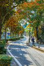 The Road to Kitano District in KObe, JApan Royalty Free Stock Photo
