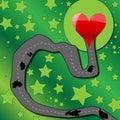 Road to love heart Royalty Free Stock Photo