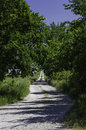 Road to the lower fox creek school this is only located near highway north of strong city kansas Royalty Free Stock Image