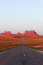 Road To Monument Valley Stock Photography