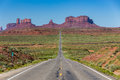 Road to the Monument Valley, Utah, USA Royalty Free Stock Photo