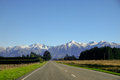 Road to mount cook, New Zealand Royalty Free Stock Photo