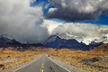 Road to mount fitz roy patagonia argentina in the clouds los glaciares national park Stock Photos