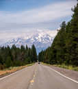 The Road to Mount Shasta Royalty Free Stock Photo