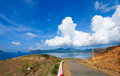 Road to the mountain in Con Dao island Royalty Free Stock Photo