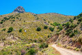 Road to mountains. Crete, Greece Stock Images