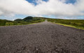 Road to nowhere in azores portugal landscape with winding Stock Photography