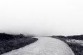 Road to nowhere in black and white Stock Photography