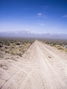 Road to nowhere dirt off extraterrestial highway nevada usa Royalty Free Stock Photography
