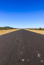 Road to nowhere namibia africa empty tar Stock Photography