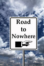 Road to nowhere taking the and failing in career and life Royalty Free Stock Photography