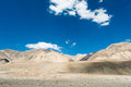 Road to pangong lake with light and shade on mountain Royalty Free Stock Images