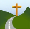 Road to religion concept illustration design landscape Royalty Free Stock Photography