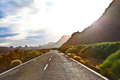 The road to the reserve tenerife canary islands spain in sunrice Stock Photo
