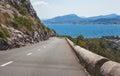 Road to the sea mountain from formentor pollenca majorca spain Stock Photos