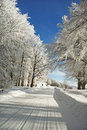 Road to a snow. Royalty Free Stock Photography