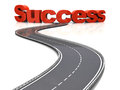 Road to success d illustration of concept over white background Royalty Free Stock Images