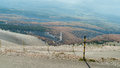The road to the summit of Mont Ventoux  in The Provence, Souther Royalty Free Stock Photo
