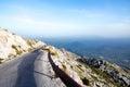 Road to sv. Jure peak in Biokovo mountains. Royalty Free Stock Photo
