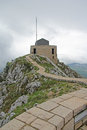 Road to the viewing platform on the lovcen mountain montenegro Royalty Free Stock Photo