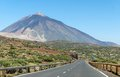Road to volcano teide peak of tenerife spain Royalty Free Stock Photography