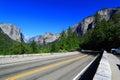 Road to yosemite national park valley california Royalty Free Stock Image