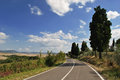 Road in toscana landscape with a Stock Photos