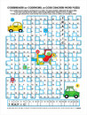Road traffic codebreaker word puzzle Stock Photos