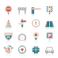 Road and Traffic Icons Royalty Free Stock Photo