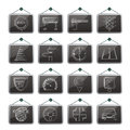Road and traffic icons vector icon set Royalty Free Stock Photography