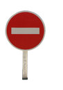 Road traffic sign no entry isolated Stock Photo