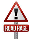 Road traffic sign with a road rage Stock Photography