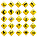 Road traffic signals vector important cautionary sign safety Stock Image
