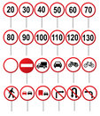 Road traffic signs Royalty Free Stock Photos