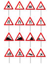 Road traffic signs Stock Photos