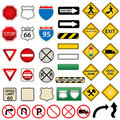 Road and traffic signs Royalty Free Stock Photography