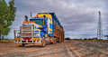 Road train, Australia Royalty Free Stock Photo