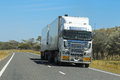 Road train Transport in the Australian Outback Royalty Free Stock Photo