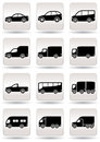 Road transport icons set Royalty Free Stock Photography