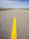 Road less traveled deserted extraterrestrial highway nevada usa Stock Image