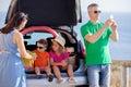 Road trip, family summer vacation Royalty Free Stock Photo