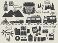 Road trip packing list infographic elements