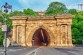 Road Tunnel near Funicular to Royal Castle Hill. Budapest. Hunga Royalty Free Stock Photo