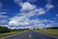 Road under blue sky Royalty Free Stock Photo