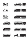 Road vehicles icons Royalty Free Stock Images