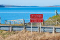 Road warning sign at the orkney islands scotland uk Royalty Free Stock Photo