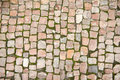 Road was paved with stone the Royalty Free Stock Images