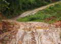 Road wet muddy Royalty Free Stock Photo