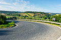 Road winding paved in the tuscany italy Royalty Free Stock Photography