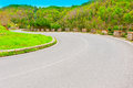 Road winding paved in the tuscany italy Stock Photos